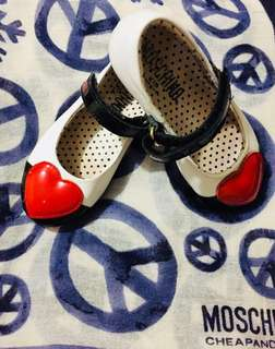 Authentic Moschino Kids Heart Patch Ballerinas