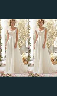 White Evening Ball Gown