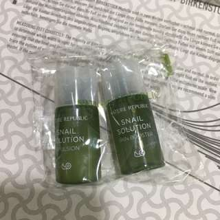 nature republic Snail Solution emulsion and booster (sample size)