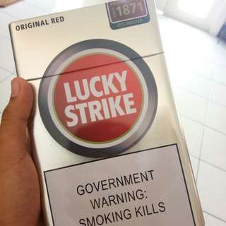 Lucky Strike Cigarette Tin Can