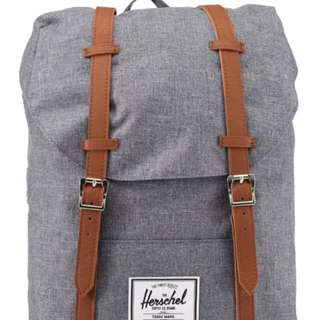 正品Herschel Retreat Backpack(麻灰)