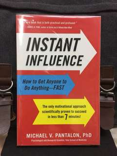 《Preloved Paperback + Six Questions , Seven Minutes : Instant Influence》Michael V. Pantalon - INSTANT INFLUENCE : How To Get Anyone To Do Anything -FAST