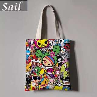 Tokidoki inspired tote bag
