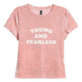 [NEW] H&M Velvet Top Pink