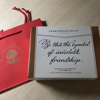 Crabtree & Evelyn London Almond & Violet Biscuits with Rose Tea 送禮 復活節 新年