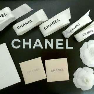 Chanel 絲帶+花花+咭
