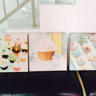 Frame decoration cupcake