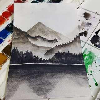 Watercolor postcard