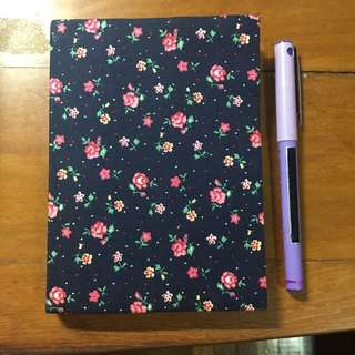Brand new - floral blank pages notebook