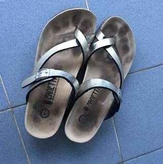 Zanetta orthopaedic footwear size 7/38 silver sandals