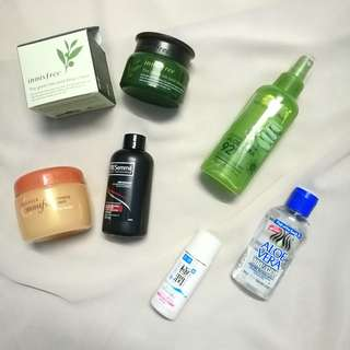 Assorted Skin care to let go