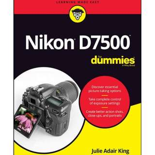 Nikon D7500 For Dummies eBook