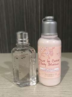 L'OCCITANE CHERRY BLOSSOM EAU DE TOILETTE & SHIMMERING LOTION 35ml