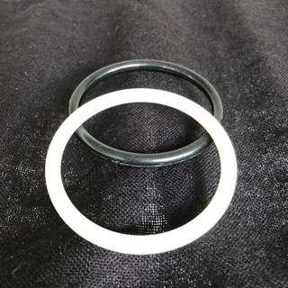 Black and white bangles