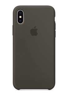 iPhone X 矽膠保護殼 - 深橄㰖色