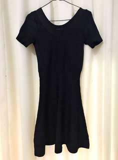 Flare Dress / Dress hitam / dress pesta / dress bodycon