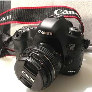 Canon 5D Mark III + Canon 50mm F 1.4 lens