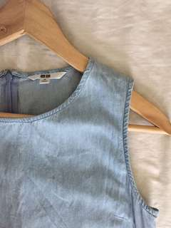 Uniqlo Light Denim Sleeveless Dress