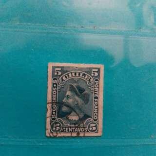 1900 Chile stamp, Columbus