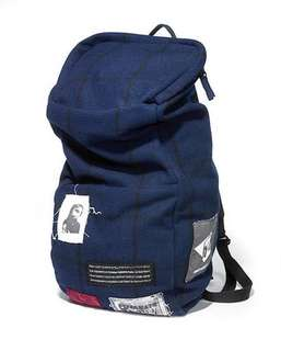 Raf Simons for Eastpak navy blue backpack