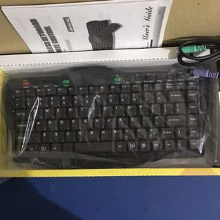 Wireless keyboard remote control set