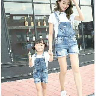 Denim Romper (mummy and daughter set)