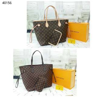 2 in 1 Louis Vuitton LV Neverfull (FREE POSTAGE)