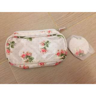 Cath Kidston Cosmetic Pouch化妝袋連鏡