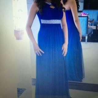 Edward Teng Blue Formal Long Gown