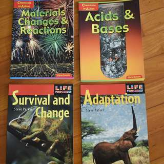 Chemistry and biology easy reference books