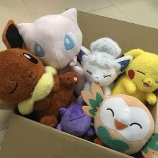 Pokemon plush family :-)