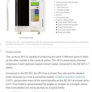 Kangen ionizer medical device