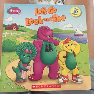 Pre-loved barney letsmgo look and see book