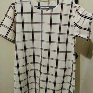 checkerd plus size shirt