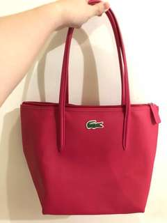 Authentic Lacoste zip tote bag in virtual pink
