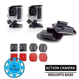 Action camera mounts base