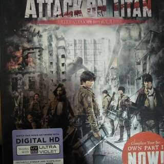 Attack of the Titan the movie part 2 blu ray+ dvd