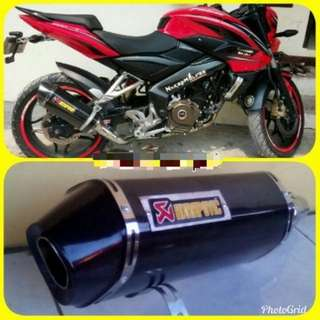 Pulsar 200ns exhaust w/ linkpipe