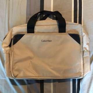 SALE - Calvin Klein Beige Briefcase