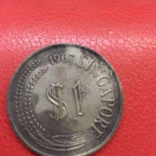 1967 singpore $1