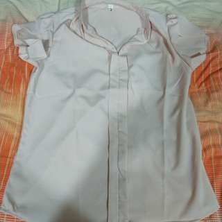 Office pink blouse