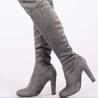 BNIB Dark Grey Thigh High Boots