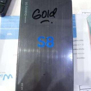 SAMSUNG S8 GOLD NEW BNIB RESMI SAMSUNG 1TH
