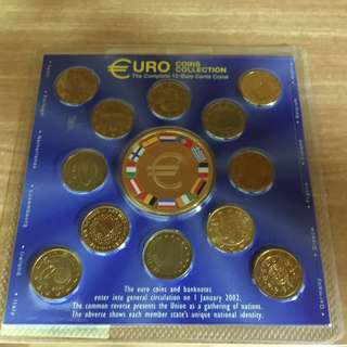 The Complete 10-Euro Cents Coins (Minted in Year 2002)