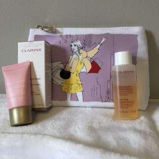 Brand New Clarins moisturizer/cleanser set