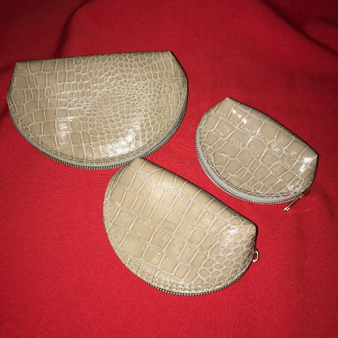 3 pc set of cosmetic/trinket/gadget bags Celine