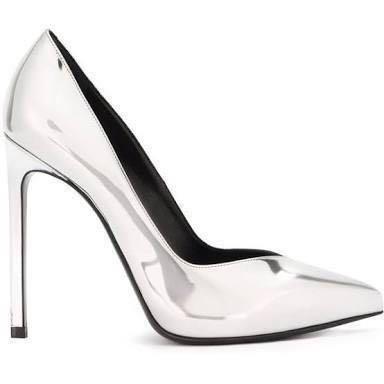 3-inch High Silver Heels
