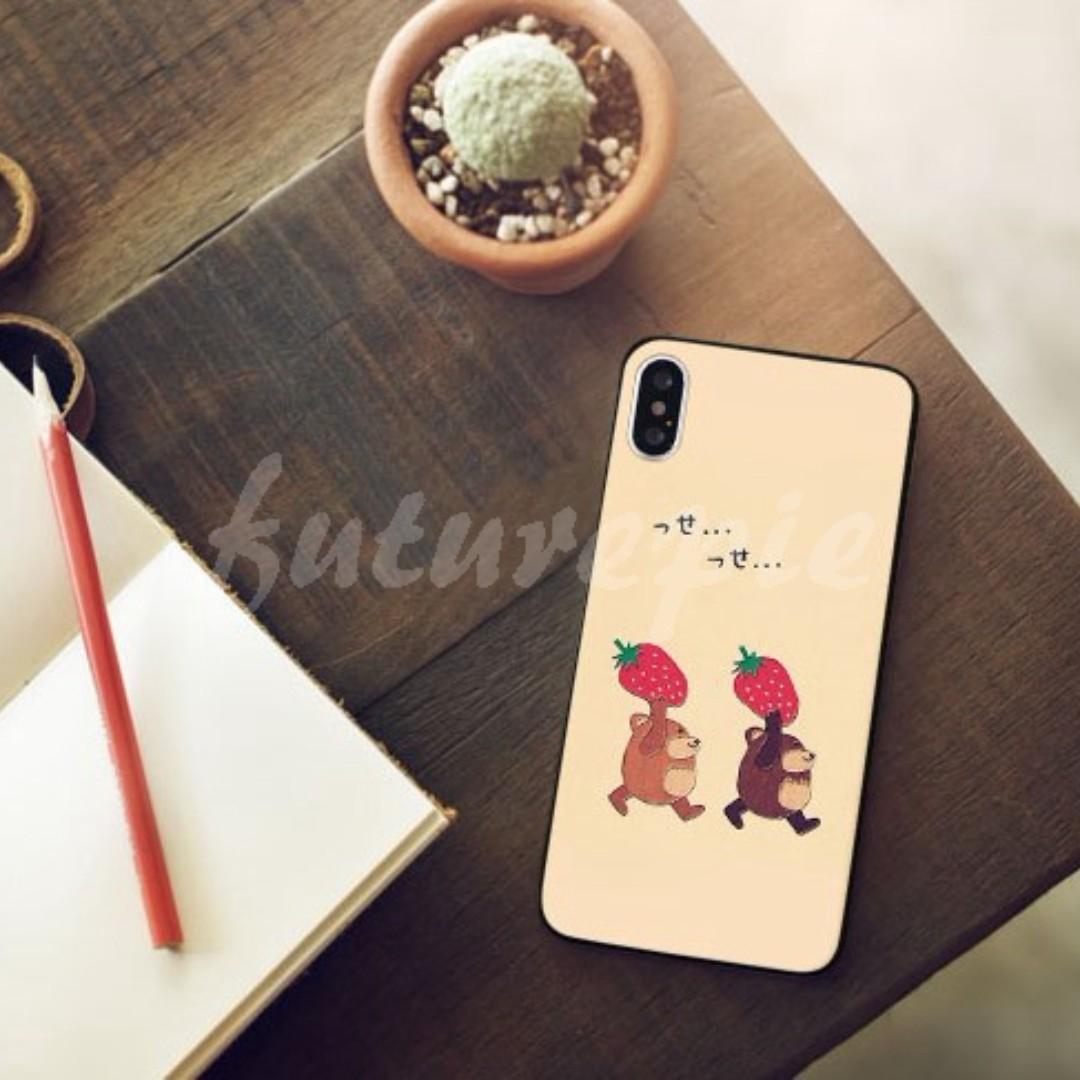 【預購】5+6+7+8+X/韓國/熊/草莓/全包/軟殼/手機殼/Iphone/i5/SE/i6/i7/i8/iX