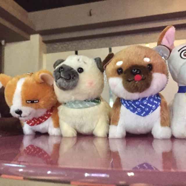 可愛狗狗玩偶5隻(全新含吊牌)