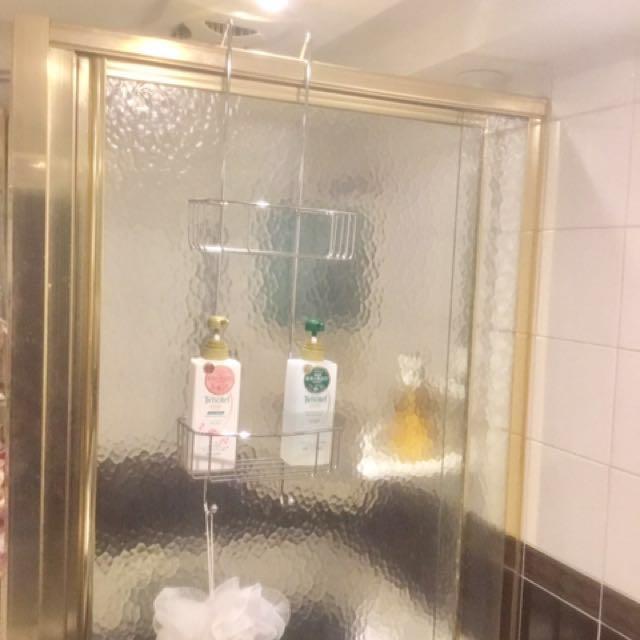 浴室沖澡間門厚5公分內可用 不鏽鋼 掛架 304不銹鋼+電鍍